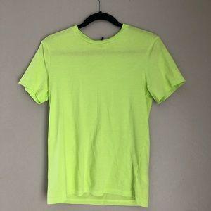 Bright neon green t-shirt H&M mens